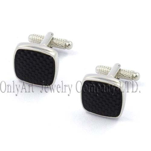 engraved or laser name stone cufflinks